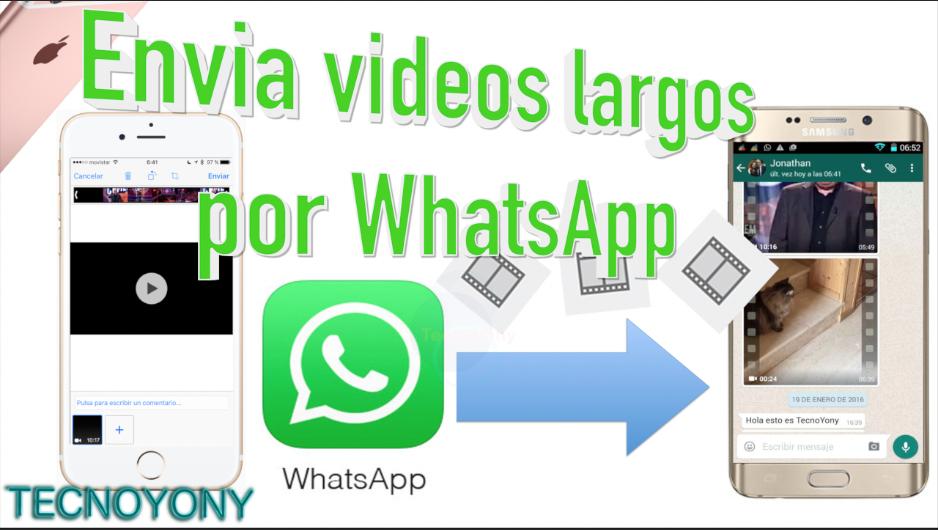como enviar videos largos por whatsapp iphone